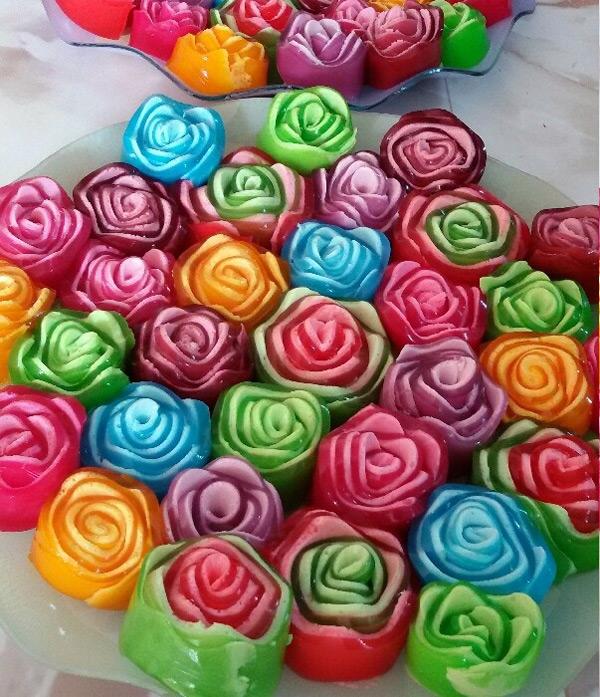 ژله گل رز