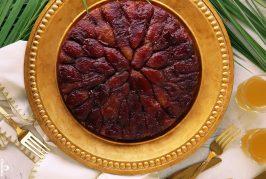 آموزش پخت کیک آپساید داون خرما