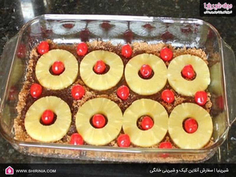 طرز تهیه کیک آناناس
