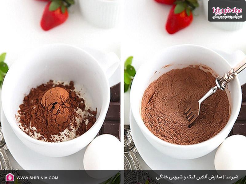 طرز تهیه کیک فنجانی شکلات مذاب