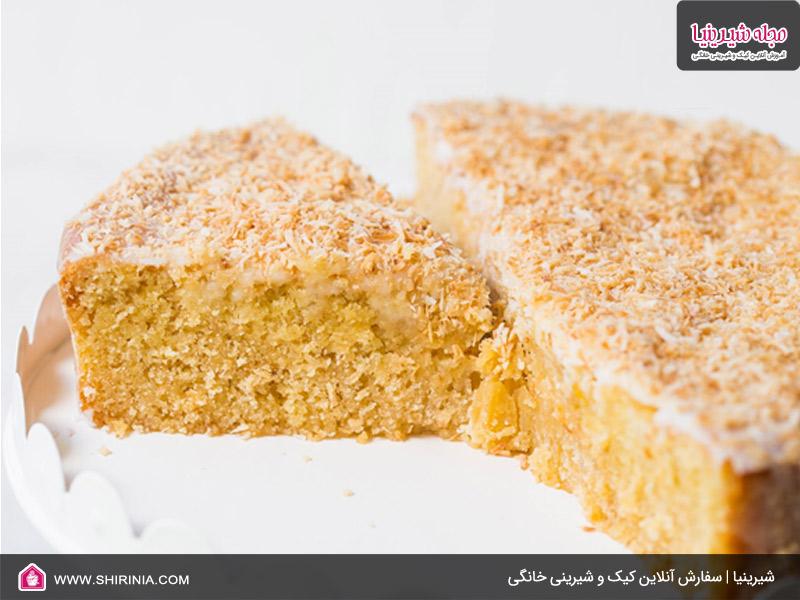 طرز تهیه کیک سفید نارگیلی