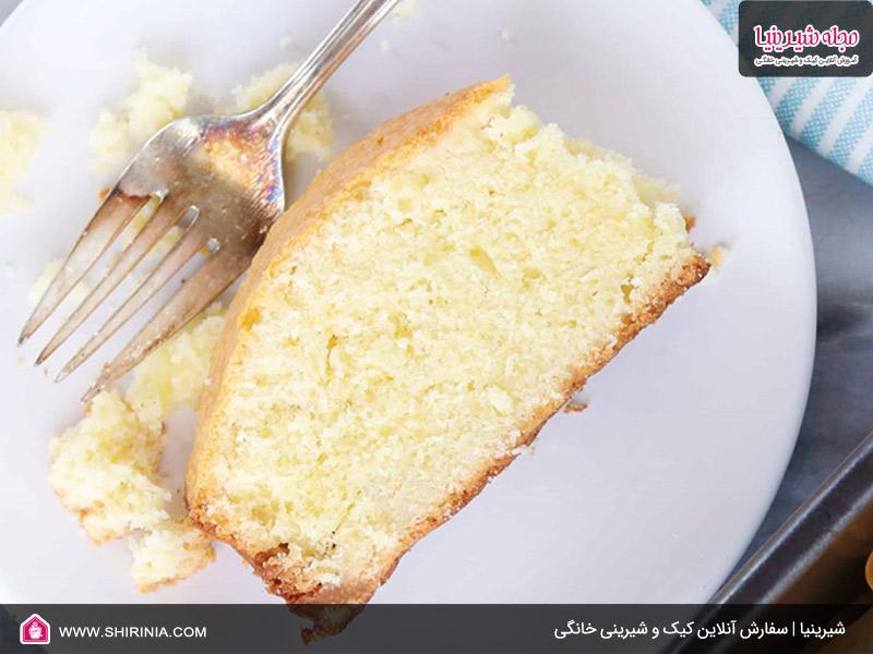 طرز تهیه کیک سفید بادامی